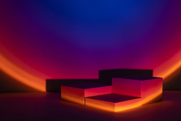 Sunset projector lamp product backdrop