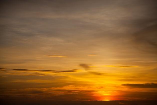 Sunset and sea waves, beautiful gold sunset on the sea. , sea sunset