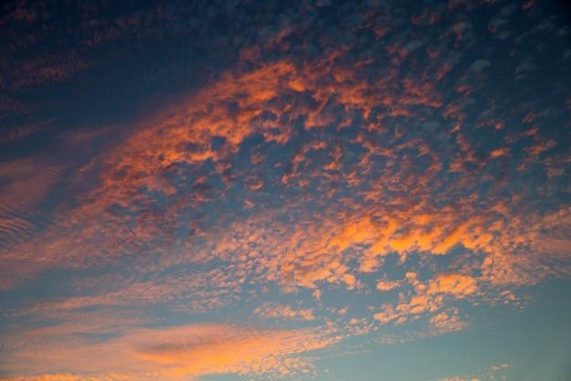 일몰 하늘 배경