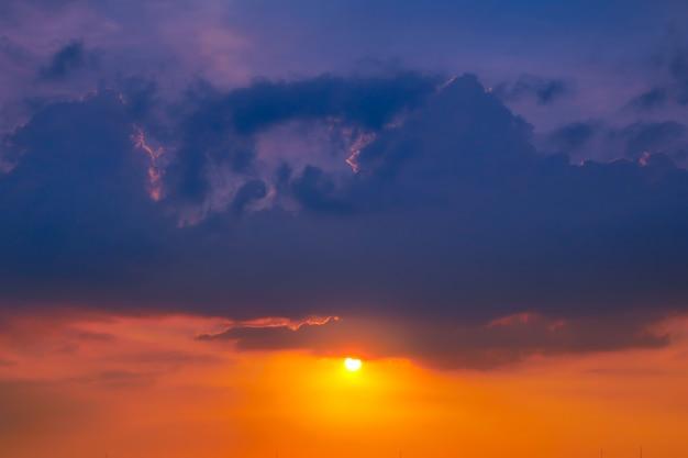 Sunset sky in summer