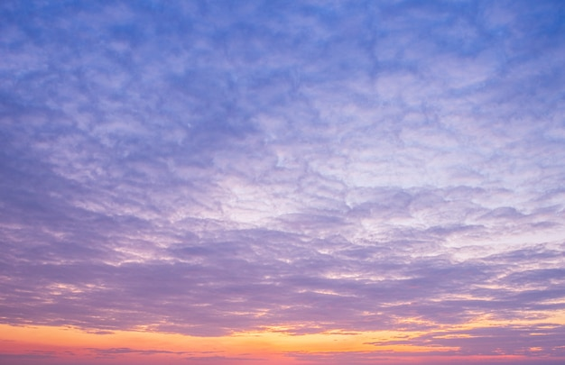 Sunset sky with clouds. summer background.