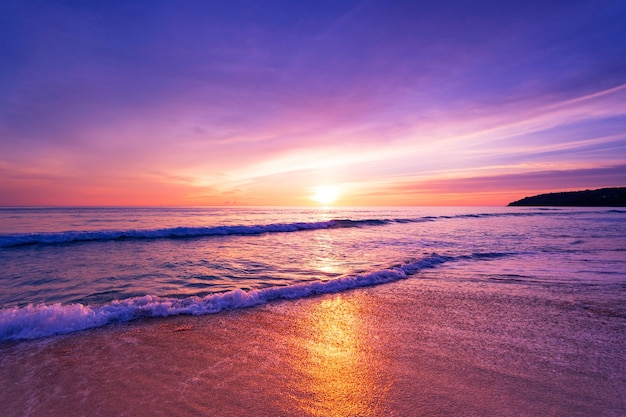 Sunset or sunrise sky clouds over sea sunlight in phuket thailand amazing nature landscape seascape