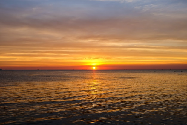 Sunset twilight at sea