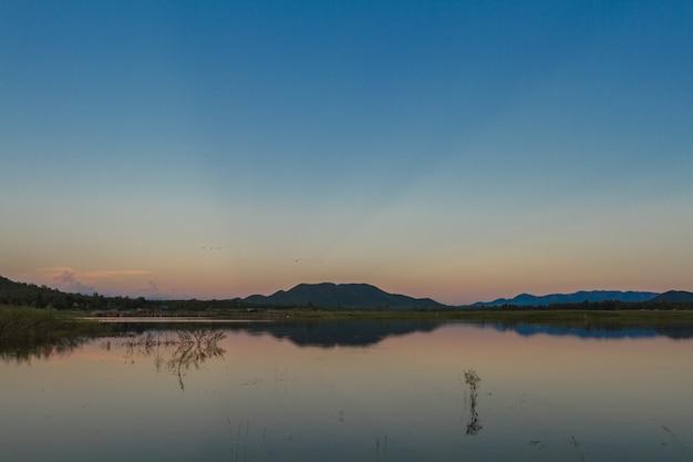 Sunset twilight time