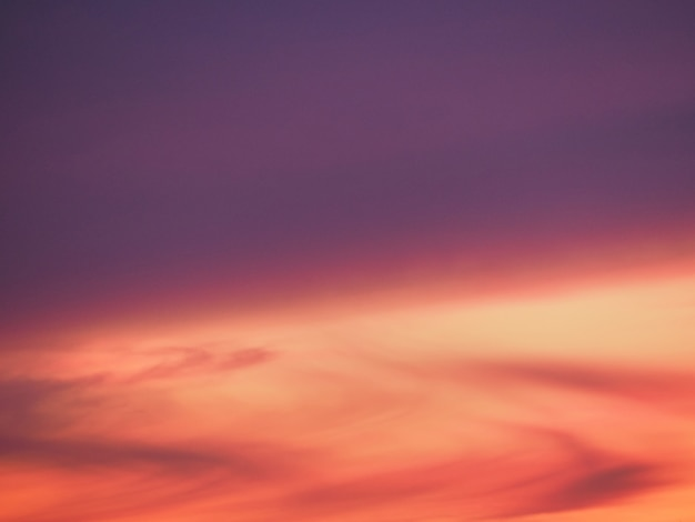 Sunset, winter, pink purple red sky and clouds background texture