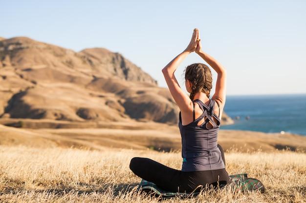 Sunset yoga classes.