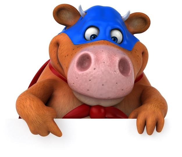 Super cow - 3d illustration