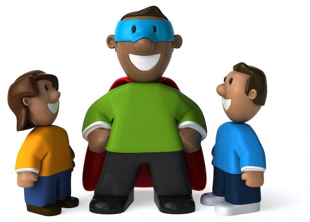 Super dad - 3d illustration