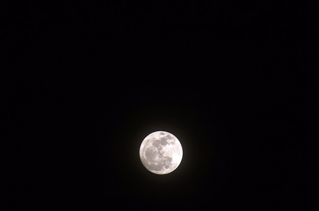 夜空の超満月、ブルームーン Premium写真