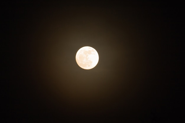 Super full moon in night sky, blue moon or full moon on festival