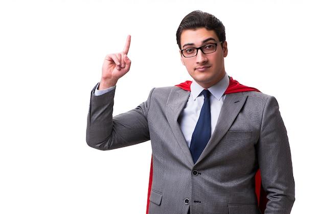 Super hero businessman isolated
