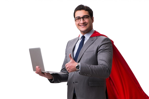 Super hero businessman isolated
