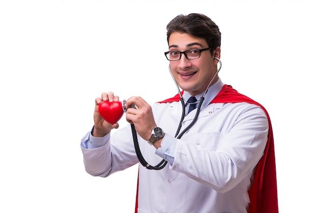 Super hero doctor isolated