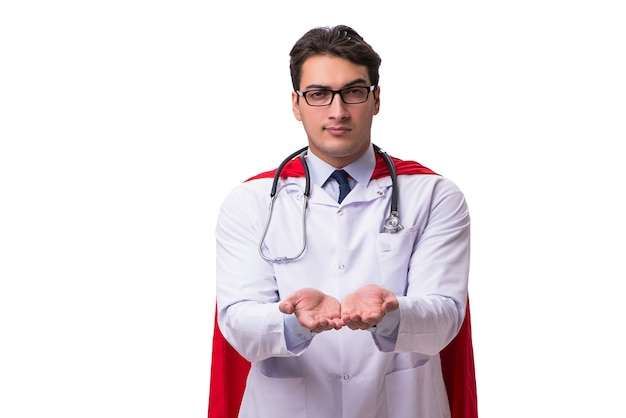 Super hero doctor isolated