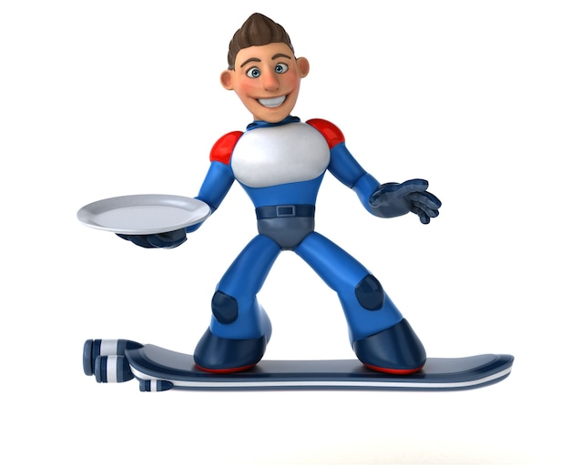 Супер современный супергерой - 3d иллюстрации