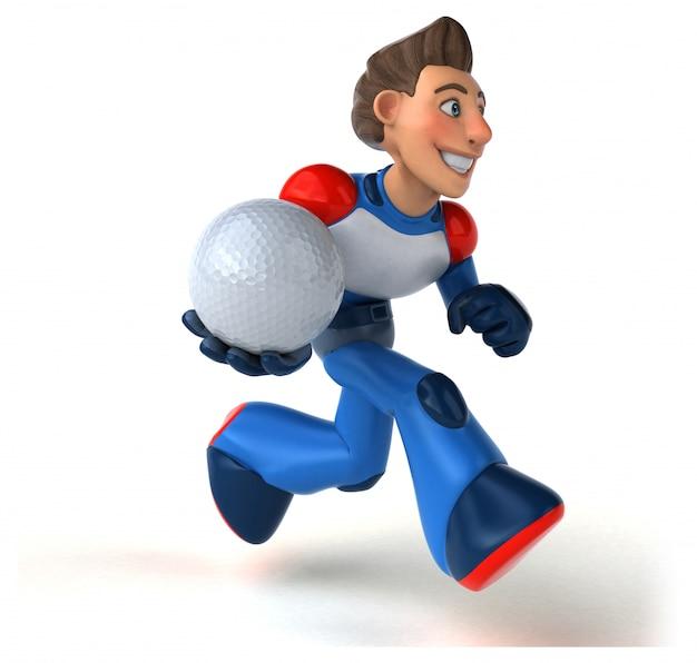 Super modern superhero - 3d illustration