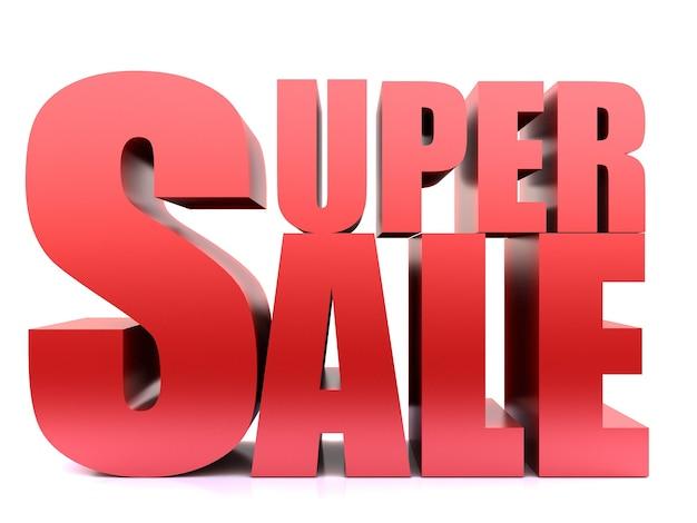 Super sale word ,3d render