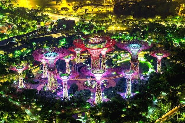 Супер дерево в саду у залива, сингапур.