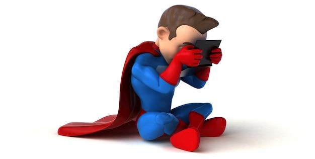スーパーヒーローのコーディング-3dイラストレーション