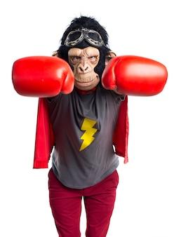 Superhero monkey man flying
