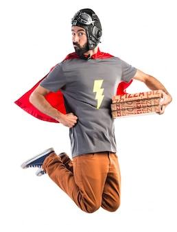 Superhero pizza man