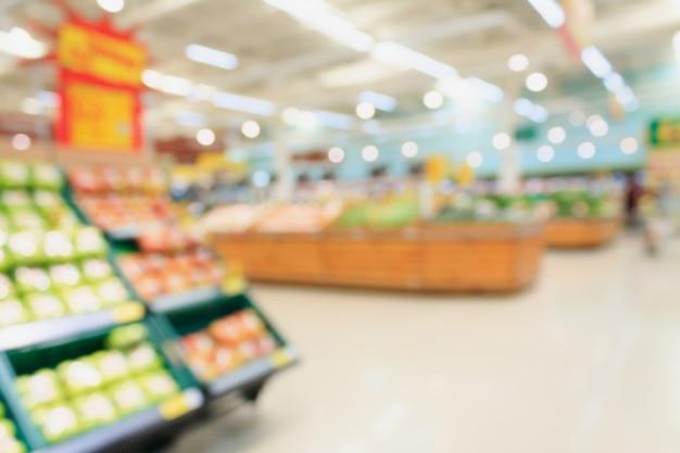 Супермаркет размыто