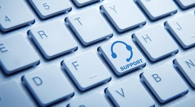 サポート。キーボード。インターネット。ビジネス。技術