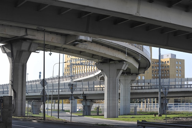 Support of the exit from the ring road in saint petersburg