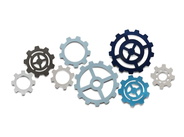 Support gears isolated on white background