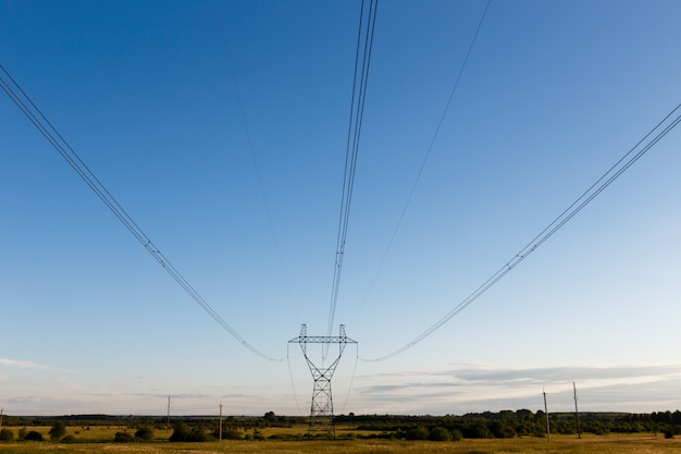 Support of high-voltage power line