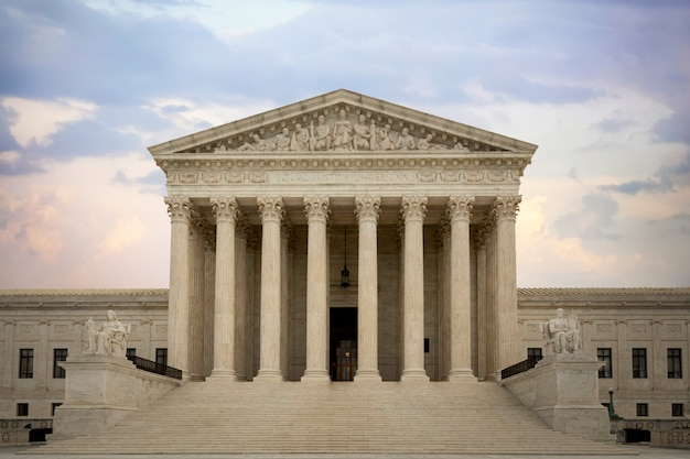 Supreme court, hall of justice building in washington dc, usa.