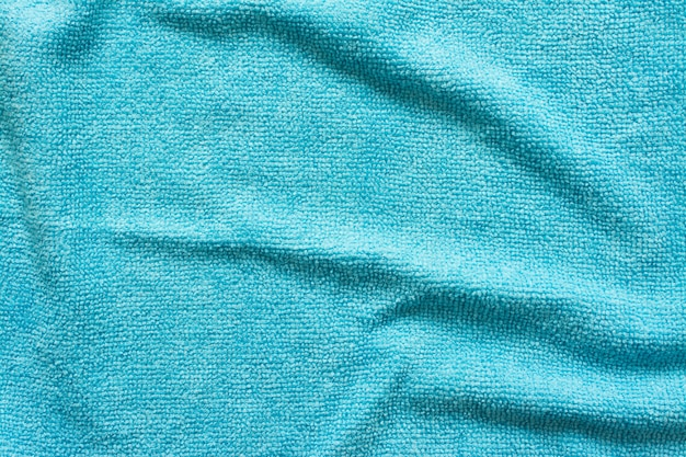 Surface of blue microfiber cloth