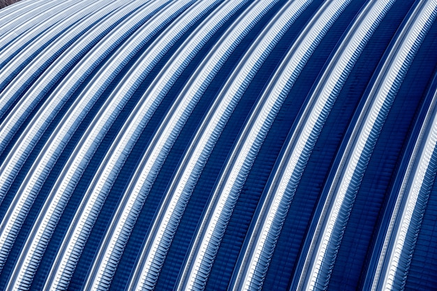 Surface of a industrial metal roof. abstract background.