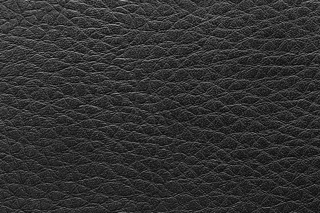 Surface of the leather black vintage background.