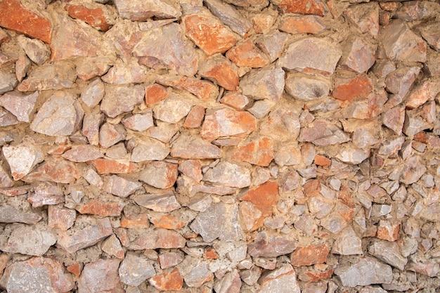 Поверхность из натуральных камней различных размеров и цветов фактура камня