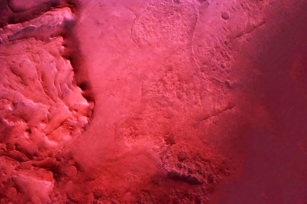 붉은 화성의 표면. 이 이미지의 요소는 nasa에서 제공했습니다. 고품질 사진
