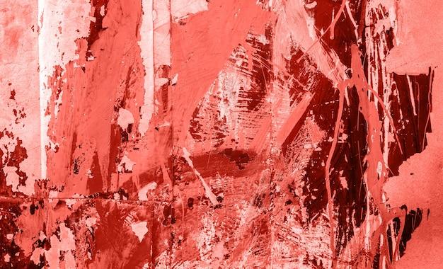 녹슨 철 backgrond의 표면입니다. 2019년 올해의 메인 트렌드 리빙 코랄 컬러.