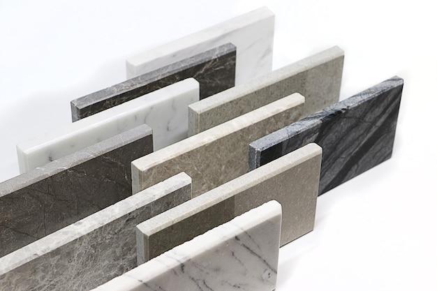 石の質感の表面、カラーサンプル石の正面図、インテリアデザインのための大理石の固体材料。