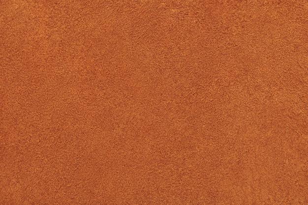 ブラウンカーフシャモアレザーの表面