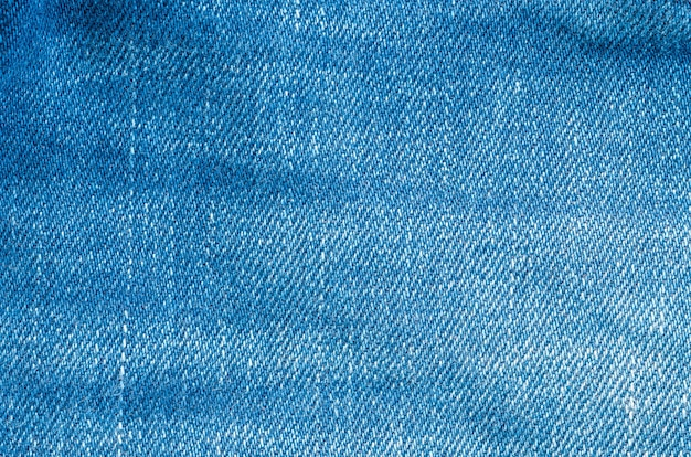 Surface of old blue jean trousers