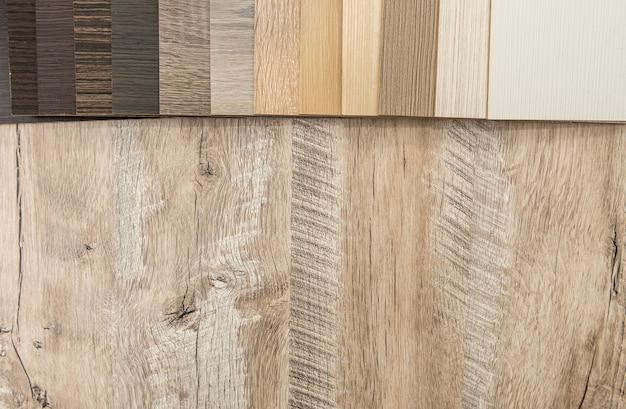 Каталог образцов поверхностного паркета, дубовой доски или ламината. материал из твердых пород дерева, деревянный пробоотборник для вашего дизайна мебели