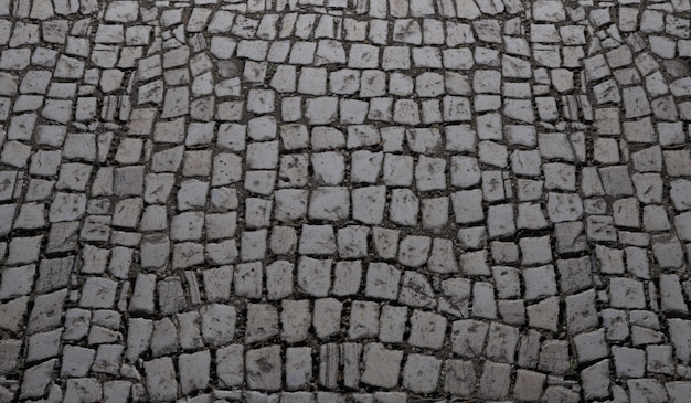 The surface of the paving stone top view