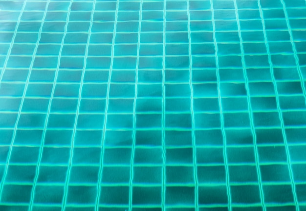 Surface swimming pool emerald clear