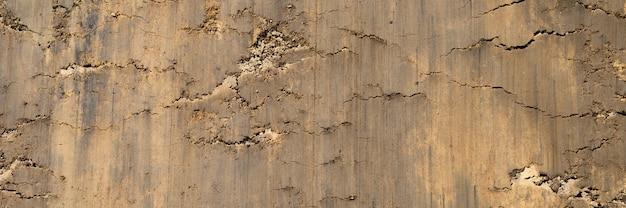 砂と土の滑らかな表面からの表面テクスチャ
