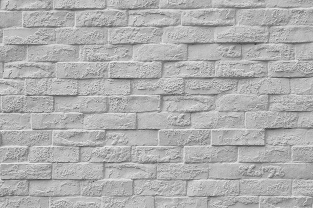 Surface of vintage white brick wall background for design in your work texture backdrop concept.