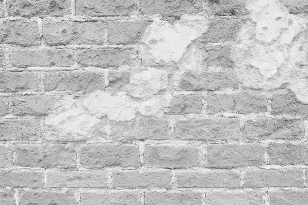 Surface of vintage white brick wall