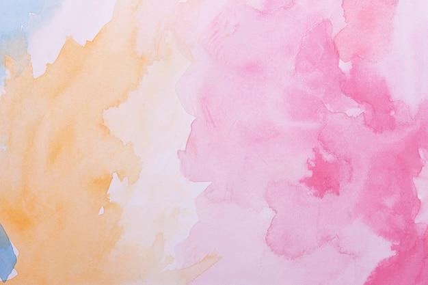芸術的な水彩画の表面