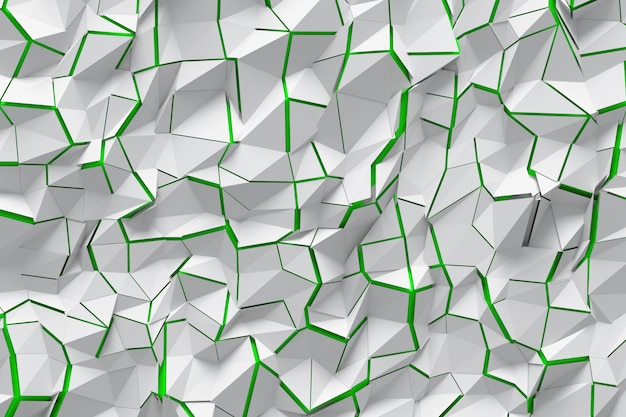 Surface with cracks and green background
