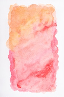 Surface with creative watercolor paint