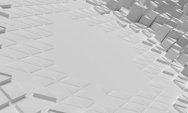 混雑した幾何学的形状の表面